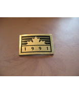 Canada Maple Leaf 1991 Souvenir Lapel Hat Pin - $5.99