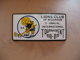 St. Vital Transcona Hockey Tournament Lions Club Lapel Pin - $9.99
