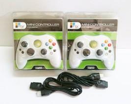 2 NEW White Controller Control Pad for Original Microsoft XBOX w 2 Exten... - $27.95