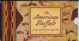 AMERICAN BUFFALO COIN & CURRENCY SET/2001 SILVER/$5 NOTE/BOX/COA-SHIPS F... - $129.95
