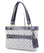 Auth LOUIS VUITTON Lucille PM Mini Lin Blue Denim Tote Hand Bag Purse #3... - $349.00