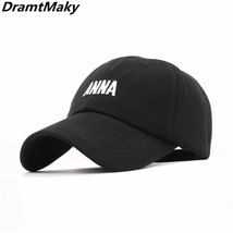 Fashion Letter embroidery ANNA Baseball Cap Men Hats for Women Snapback ... - $10.79