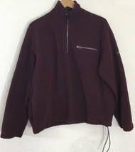 Izod Perform X Men 1/4 Zip Fleece Pullover Adjust Waist Maroon Jacket Si... - $22.99