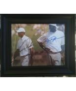 MICHAEL JORDAN AND TIGER WOODS SIGNED AUTOGRAPH 8X10 RP FRAMED PHOTO LEGENDS - $28.99
