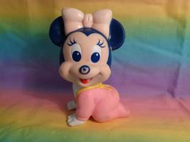 Vintage Arco 1984 Disney Baby Minnie Mouse Squeak Rubber Vinyl Toy - $7.90