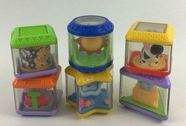 Fisher Price Peek A Blocks Baby Toys 6pc Mixed Lot Animals Rattle Zebra ... - $14.80
