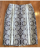 J. CREW Smooth Wool Silk no. 2 Pencil Skirt Python Snake Print Women's s... - $24.72