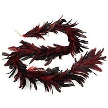 ZUCKER Dyed Bronze SCHLAPPEN Feather Garland RED image 1