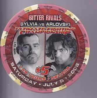 ORTIZ VS SHAMROCK SYLVIA VS ARLOVSKI July 82006 $5 Mandalay Bay Boxing Chip