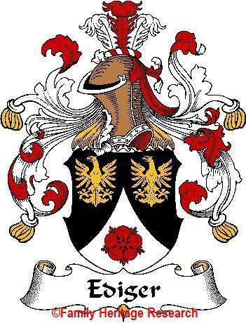 EDIGER German Coat of Arms Print EDIGER Family Crest Bonanza