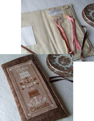 Vanilla & Chocolate cross stitch chart Little House Needleworks