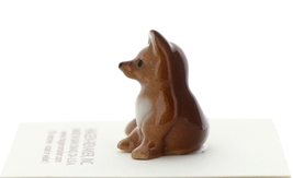 Hagen-Renaker Miniature Ceramic Figurine Fox Papa and Baby 2 Piece Set image 4
