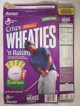 MT WHEATIES 'n Raisins Cereal Box 1998 18oz TIGER WOODS Golf ball Offer ... - $6.32