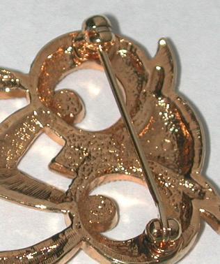 Vintage gold-tone Cute Owl/bird Pin/Brooch modernist design