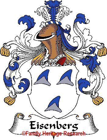 EISENBERG German Coat of Arms Print EISENBERG Family Crest Bonanza