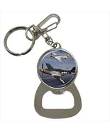 P-51D Mustang Fighter Plane Bottle Opener Keychain - $7.70