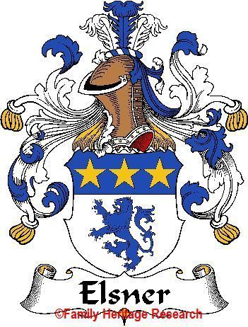 ELSNER German Coat of Arms Print ELSNER Family Crest Bonanza