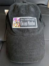LaSalle Bank Chicago Marathon Black Hat Baseball Cap Snapback - $29.69