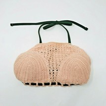 Xhilaration Juniors Blush Pink Crochet Knit Bikini Top Size XS - $7.92