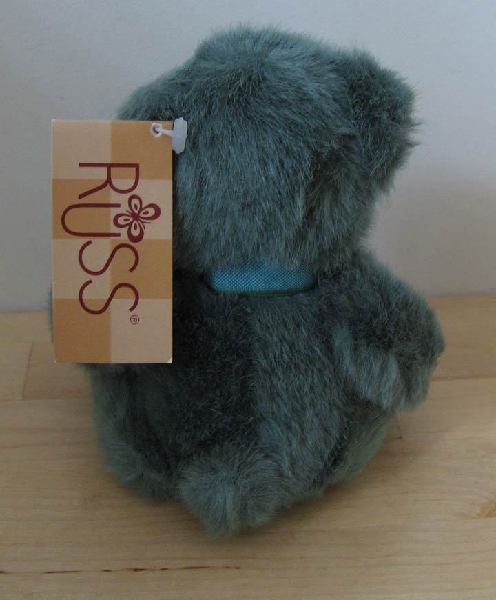 "RUSS ""Bear from the Past"" Plush Green Teddy Bear"