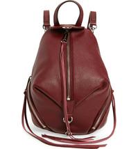 New Rebecca Minkoff Julian Mini Convertible Leather Backpack Pinot Noir Wine Red - $148.00
