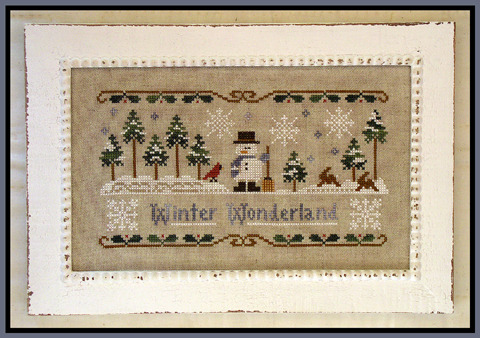 Winter Wonderland cross stitch chart Little House Needleworks