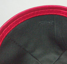 Judaica Dark Red Kippah Mesh Net Fabric Pin Spot 19 cm Israel Jewish Tradition image 3