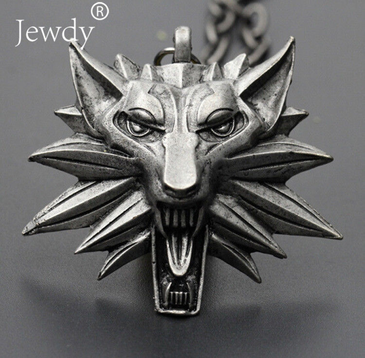 2018 Hot Sale Pendant Wizard Witcher 3 Medallion Pendant Necklace Wolf Head