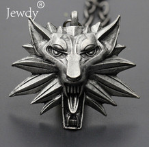 2018 Hot Sale Pendant Wizard Witcher 3 Medallion Pendant Necklace Wolf Head - $11.99