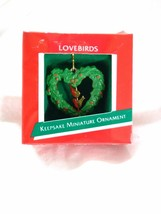 Hallmark Keepsake Miniature Lovebirds 1989 - $3.95