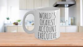 Worlds Okayest Account Executive Mug Funny Valentines Birthday Work Gift... - $14.65+