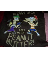 Phineas & Ferb Boys Peanut Butter Blow Torch Tee SZ SM - $15.00
