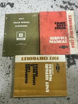 1977 Chevy Light Duty Truck Service Shop Repair Manual Set W EWD + Unit ... - $59.39