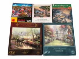 Lot of 5 Jigsaw Puzzle 1000PC Thomas Kinkade Kodak Victorian Garden II image 1