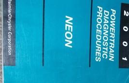 2001 Dodge Mopar Neon Powertrain Diagnostic Procedures Shop Manual Oem Factory - $28.25