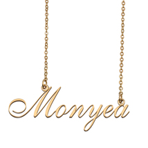 Monyea Custom Name Necklace Personalized for Mother's Day Christmas Gift - $15.99+