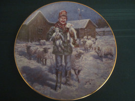 COUNTRY CHRISTMAS 1992 Collector Plate LOWELL DAVIS Born On a Starry Nig... - $72.57