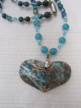 Crazylace Agate gemstone heart necklace - $52.00