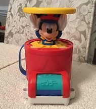Disney Mickey Mouse Roll & Pop Up Musical Drum Toy - 66860, Hard to Find - $26.60