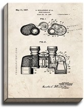 Prism Binocular Patent Print Old Look on Canvas - $39.95+