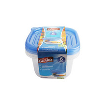 Fresh Guard Blue 6 Piece 950 ML Square Storage Containers - $6.34