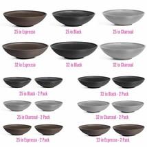 ROUND PLANT POT Outdoor UV Resistant Plastic Bowl Multi Purpose Floor Pl... - £47.61 GBP+