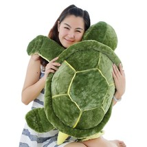 Huge Size Plush Tortoise Toy Cute Turtle Plush Pillow Staffed Cushion fo... - $28.70