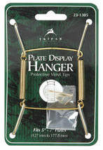 Tripar  5 in. to 7 in.  Brass  Plate Hanger  1 pk - $5.54