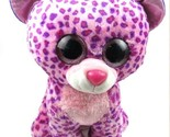 Ty Beanie Boo Babies GLAMOUR Large 15.5 in Leopard Wild Cat Bean Bag Plush 2014