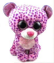 Ty Beanie Boo Babies GLAMOUR Large 15.5 in Leopard Wild Cat Bean Bag Plu... - $19.01