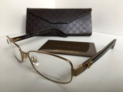 12449b0a0d7 New GUCCI GG 2893 71I Matte Gold 52mm Rx and 50 similar items