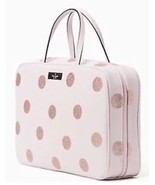 Kate Spade Giana Haven Lane Travel Cosmetic Toiletry Bag Pink Glitter Po... - £55.59 GBP