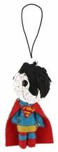 """Dc Comics 2.5 """" Superman Saiten Puppe Keychain Voodoo Handyanhänger Figur Feder"""