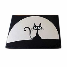 Gentle Meow Black Cat Flannel Water-absorbing Bath Rug Non-Slip Bath Mat... - €28,93 EUR